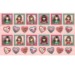 """Truly Gorguss By Santoro Of London For QT Fabrics 24"""" Panel 1649-27795-P Pink."""