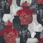 Narumi  Vases Japanese By Blank Quilting BQ9927 088 Red