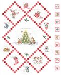 """Warm Wishes Christmas Panel From Maywood Studios Fabric 28"""" x 42"""" 6310 Ultra Whi"""
