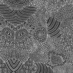 Waterhole Black by Anna Pitjara for M&s Textiles code WAHB