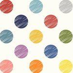 "Wideback Quilting Fabric 108"" 2"" Multi Spot White 50661-X for Windham Fabrics"
