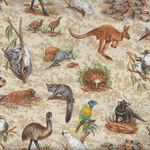 Wildlife from Nutex Fabrics 11700 Color 101 Australian Animals