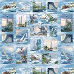 Wilmington Fabric Panel Wind And Waves 83037 Coour 412
