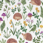 Woodland Wander By Rebecca Jones for Clothworks Fabric Y2594 White.