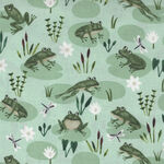 Woodland Wander by Rebecca Jones for Clothworks Y2592 Col. 109 Frogs.