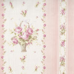 Yuwa Live Collection Made in Japan Cotton 066372/A Floral Border Print.