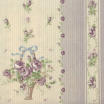 Yuwa Live Collection Made in Japan Cotton 066372/B Floral Border Print.
