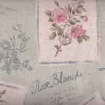 Yuwa Live Life Collections Floral Postcards Linen/Cotton Mix