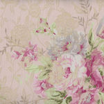 Yuwa Live Life Fabric Collection Made In Japan 299424 Colour B Embossed Roses.