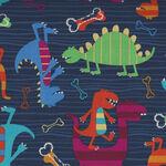 Dino Dudes by Michael Miller Fabrics CX4430 MIDNIGHT-D