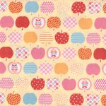 """NEW"" Sevenberry Japanese Cotton Quilting Fabric ""Apples"""